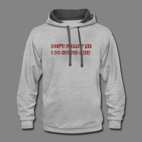dont follow me px red - Contrast Hoodie