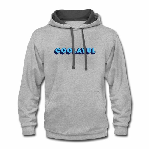 coolavulFunkyBlue - Contrast Hoodie
