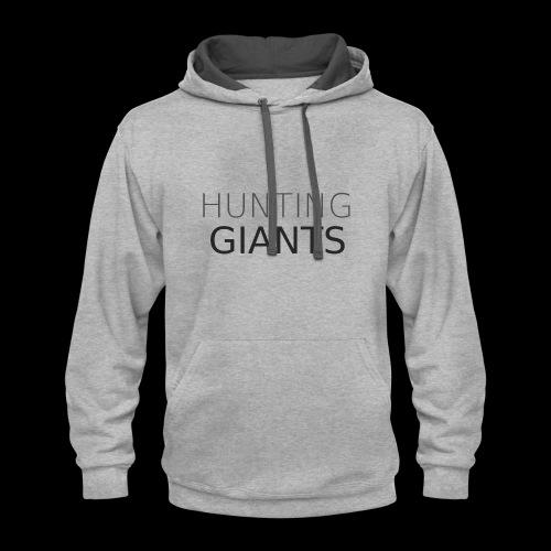 Hunting Giants Logo in Grey - Large - Contrast Hoodie