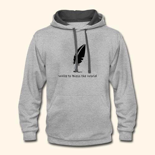 Write to Bless the World - Contrast Hoodie
