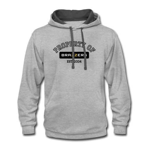 Property of Brazzers logo outline - Contrast Hoodie