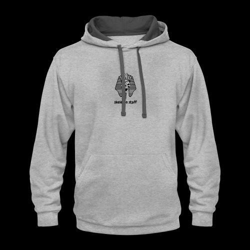 skeleton staff shirt - Contrast Hoodie