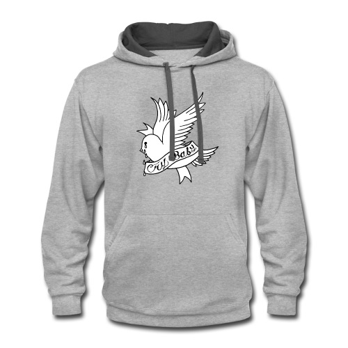 cry baby - Contrast Hoodie