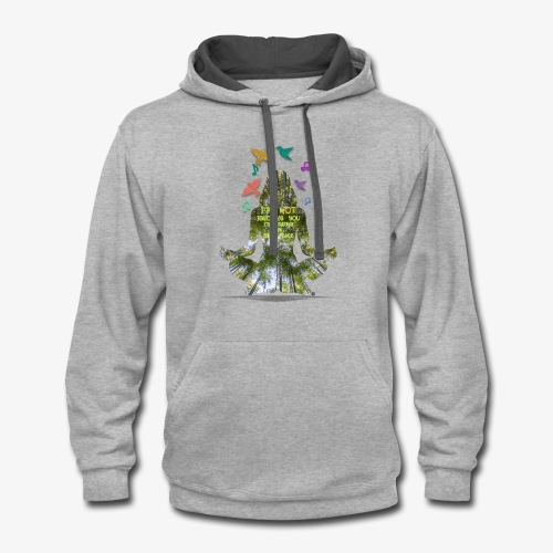 I'm not ignoring you, finding inner peace - Contrast Hoodie