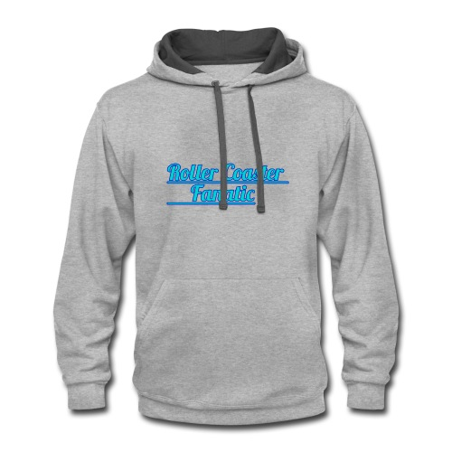 Roller Coaster Fanatic - Contrast Hoodie