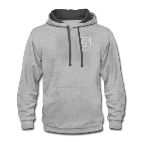 Parents Who Coach crest on chest - Contrast Hoodie