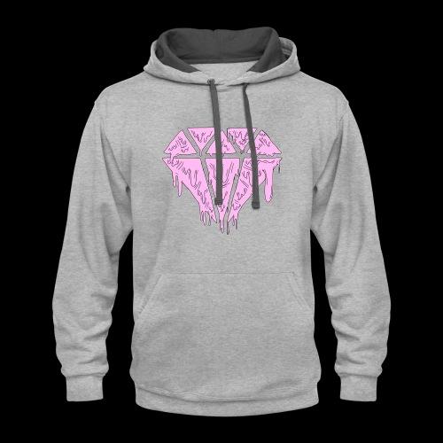 Pink Grime Nobyl Gem - Contrast Hoodie