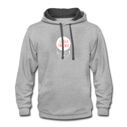 Go Your Own Way - Contrast Hoodie