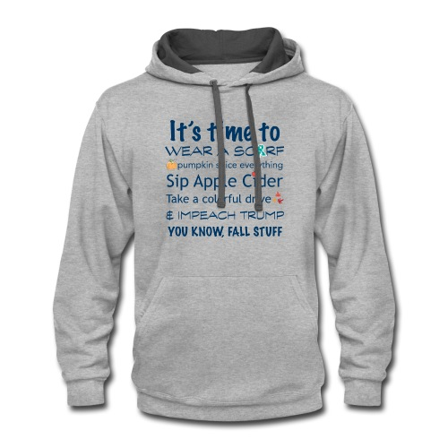 FALL Humor in Blue - Contrast Hoodie
