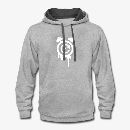 Time Less Clock Logo - Contrast Hoodie