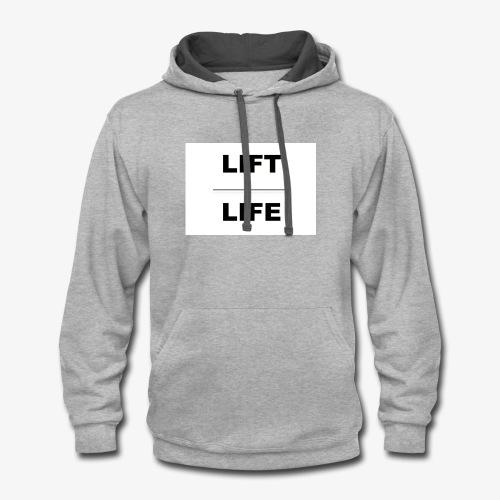 Lifting athletic gear - Contrast Hoodie