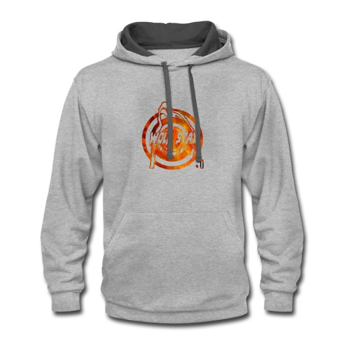 The howling of the wolf - Contrast Hoodie