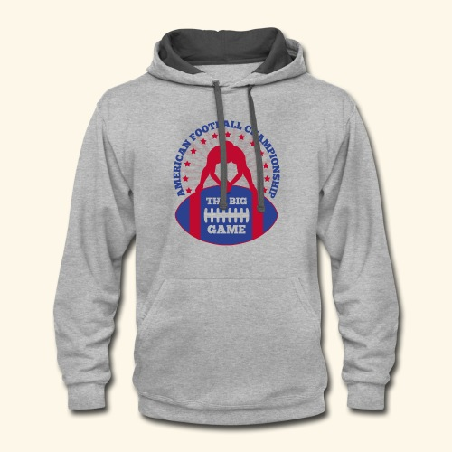 The Big Game American Football Championship - Contrast Hoodie