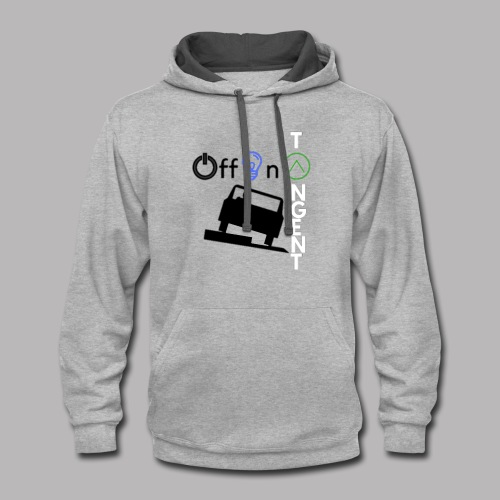 Off On A Tangent - Contrast Hoodie