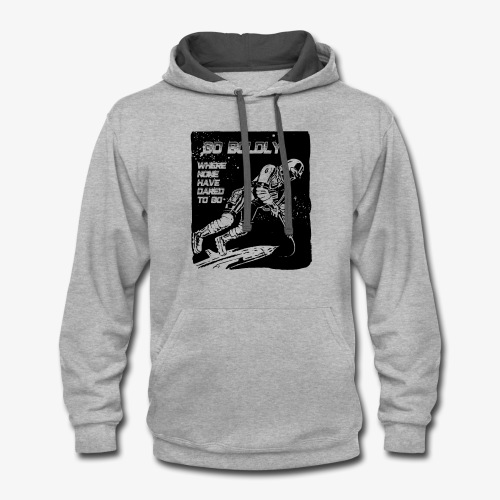 Go Boldly - Contrast Hoodie