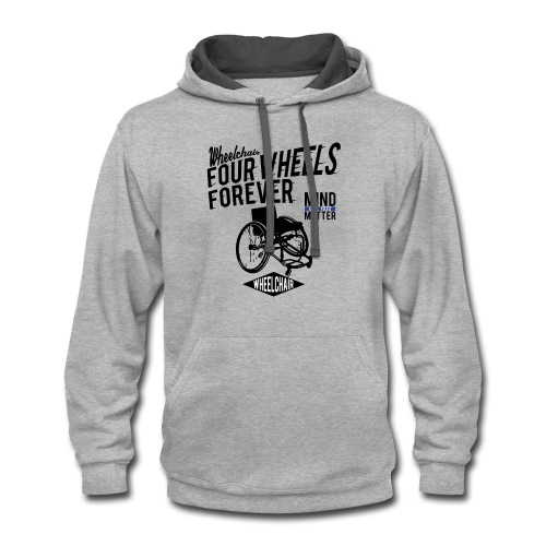 Four Wheels Forever - Contrast Hoodie