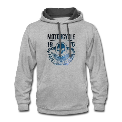 T-shirt of a motorcycle. - Contrast Hoodie