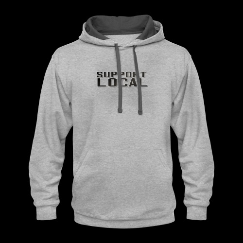 SUPPORT LOCAL - Contrast Hoodie