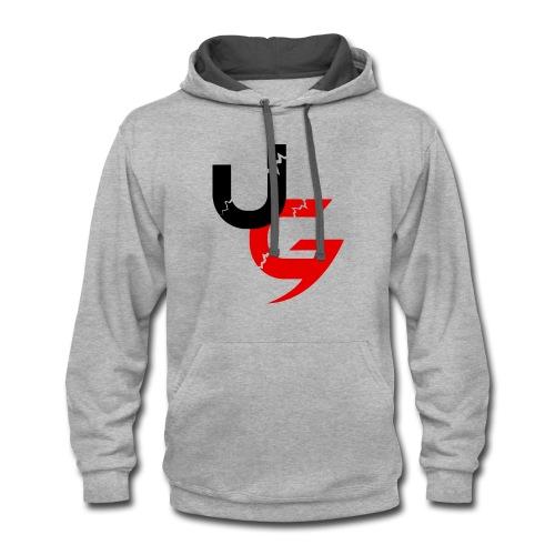 UG Black & Red Classic Logo - Contrast Hoodie