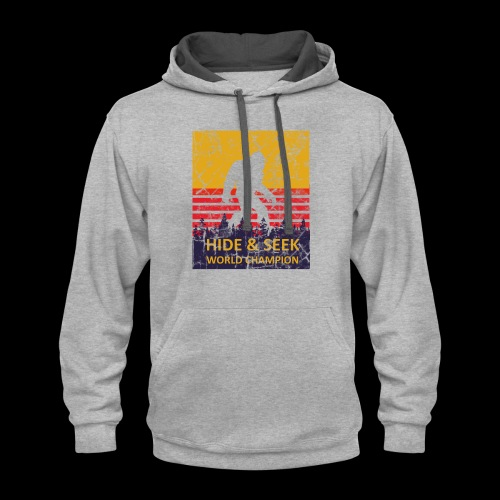 Hide And Seek World Champion T-Shirts - Contrast Hoodie