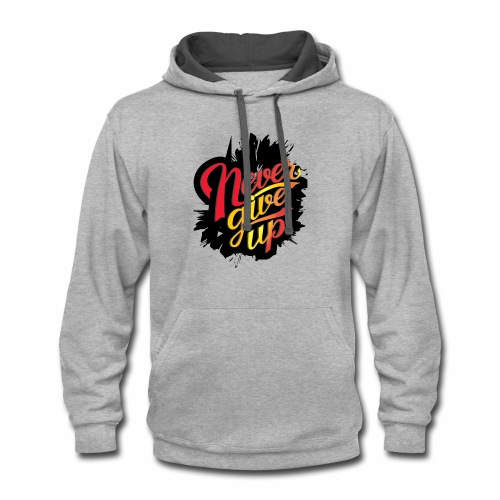 NEVER GIVE UP new fresh logo T-Shirt - Contrast Hoodie