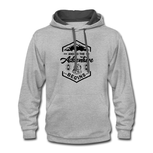 And So The Adventure Begins T shirt Wild Hiking - Contrast Hoodie