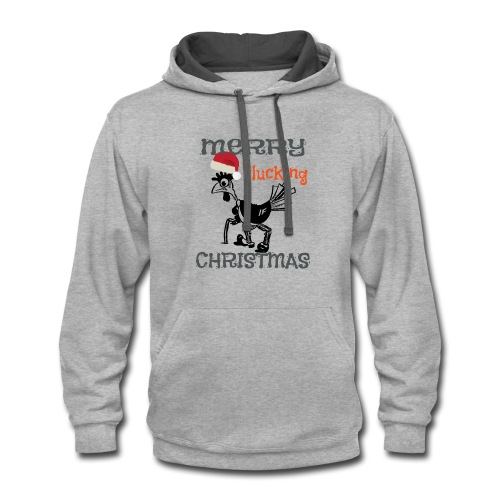Merry Cluckin' Christmas - Contrast Hoodie