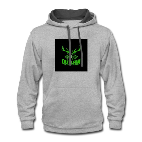 Outlaw Outdoors Logo 2 - Contrast Hoodie