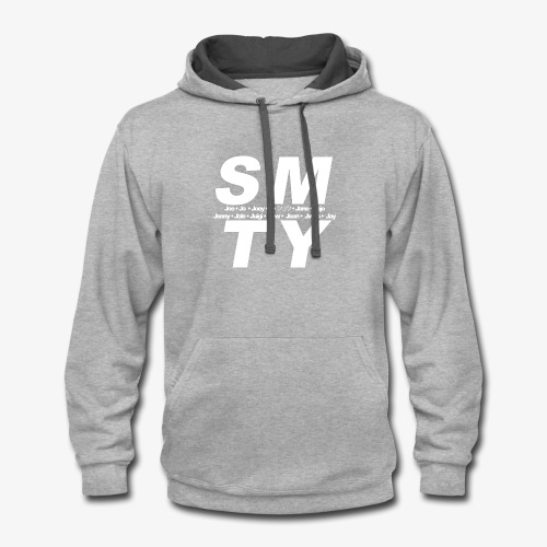 SMTY White - Contrast Hoodie