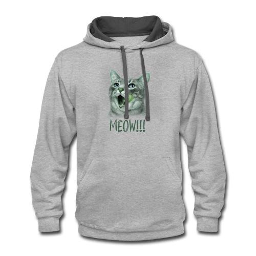 Cat Design For T-Shirt, Hoodies, Tank Tops - Contrast Hoodie