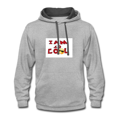i am so cool - Contrast Hoodie