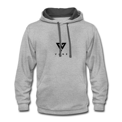 Vane Black logo w/ text - Contrast Hoodie