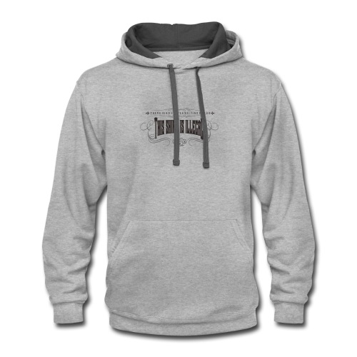 illegal gotic2o - Contrast Hoodie