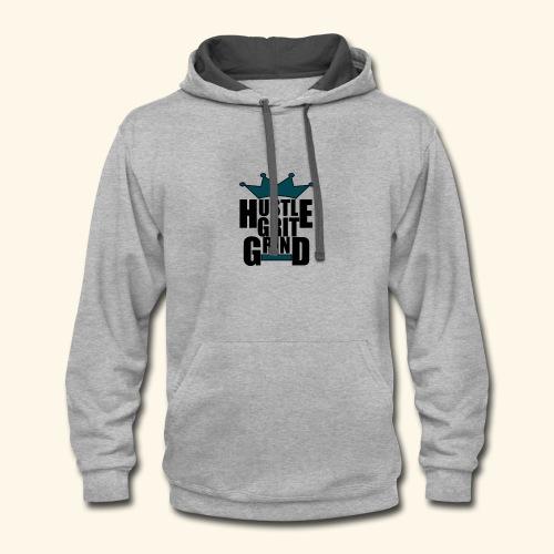 Hustle Grit Grind - Contrast Hoodie
