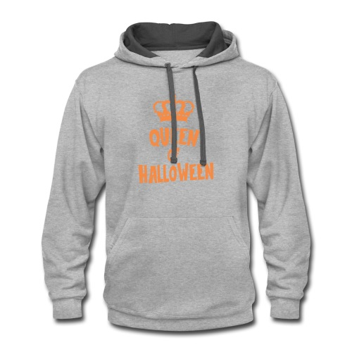 Queen of halloween - Contrast Hoodie