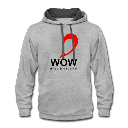 wow design cloth - Contrast Hoodie