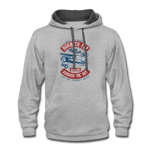 Born To Fly 2 - Contrast Hoodie