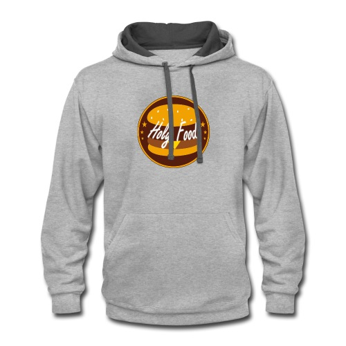 Holy food logo - Contrast Hoodie