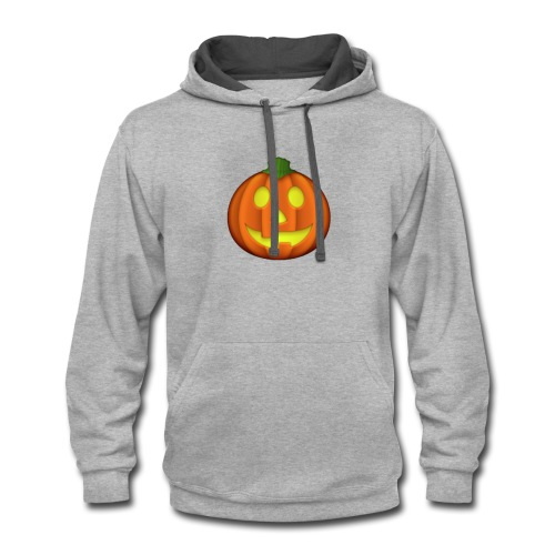 Halloween skull zombie pumpkin Tshirt 11 - Contrast Hoodie