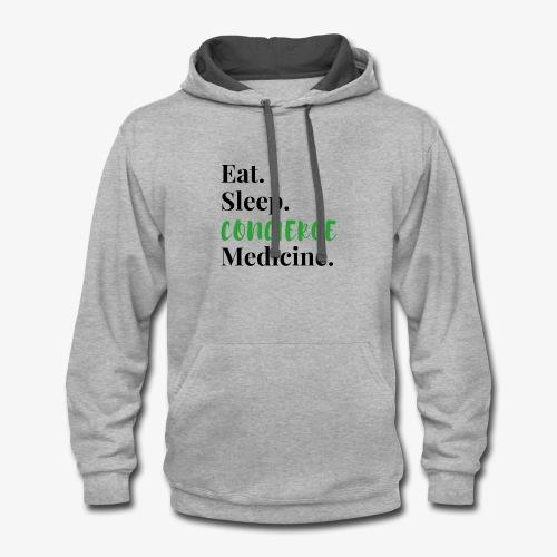Eat Sleep Concierge Medicine - green - Contrast Hoodie