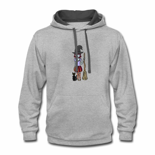 Gigi the good witch (no background) - Contrast Hoodie