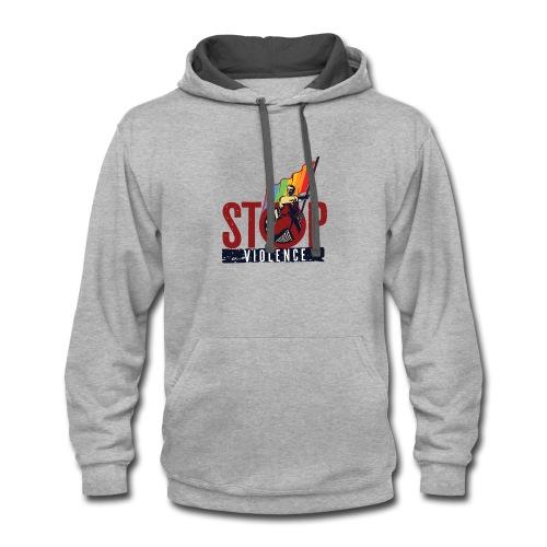 Stop Violence - Contrast Hoodie