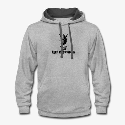ninjah gang keep it swinging - Contrast Hoodie