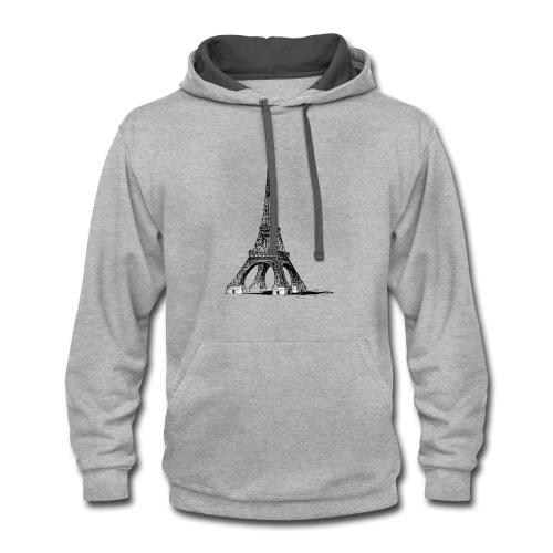 Eiffel Tower t-shirt - Contrast Hoodie