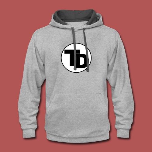 Team doronne Maine logo - Contrast Hoodie