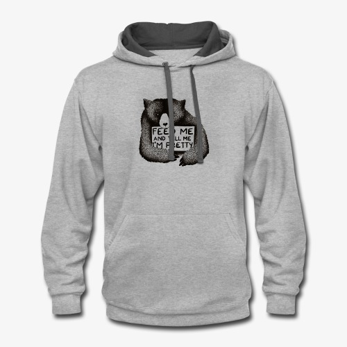 Feed Me and Tell Me I'm Pretty - Contrast Hoodie