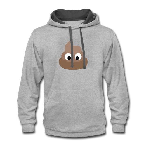 poop - Contrast Hoodie