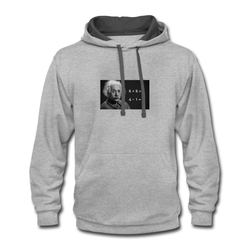 Albert Einstein is smart - Contrast Hoodie
