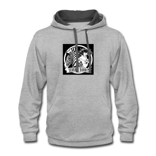 Black Logo Design - Contrast Hoodie