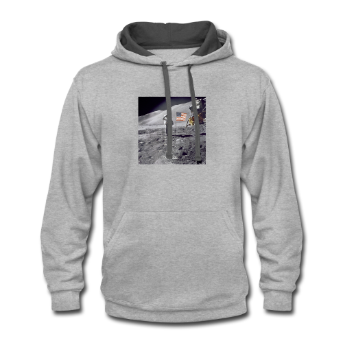 first man on the moon - Contrast Hoodie